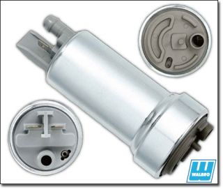 Walbro 400 LPH Fuel Pump Universal in Tank with 2 Filters Install Kit