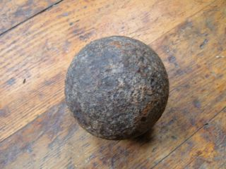 Civil War cannon ball or Revol. War ? Solid 12 pounder   not a repro