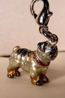 Three Dimensional Removable French Bull Dog Charm Bracelet