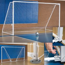 Portable Foldable Indoor Soccer Goal with Non marking Floor Pads