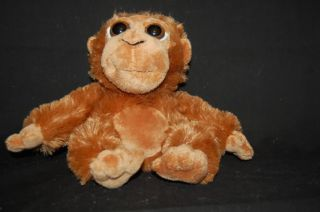 Plush Big Bright Eyes Petting Zoo Brown Monkey Lovey