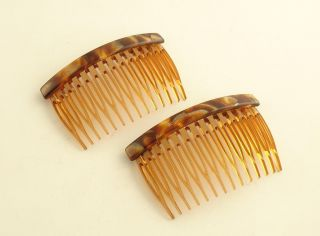 Side Combs Pair France Luxe Hair Comb New w Tag
