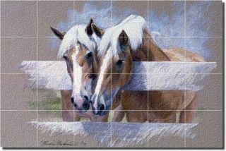 McDonald Horses Equine Art Glass Wall Floor Tile Mural