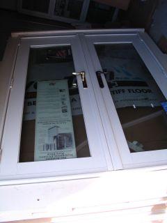 ANDERSEN FWG 5068 SLIDING GLASS DOOR WHITE GRIDS BETWEEN GLASS
