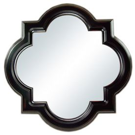 New Octagon Quatrefoil Black Framed Wall Mirror 30 L2