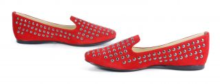 french sole new york gaga red suede flat brand new and in perfect