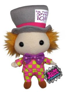 alice in wonderland mad hatter 7 plush doll toy new