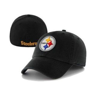 Pittsburgh Steelers 47 Brand Black Fitted Franchise Slouch Hat Cap