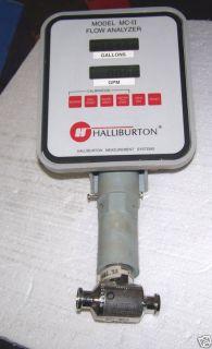 Halliburton MC II Flow Analyzer w Turbine Flow Meter