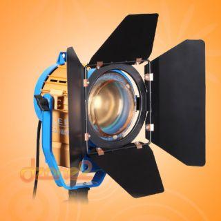 Pro 1000W 3200K 5500K LED Studio Fresnel Tungsten Light Barndoor