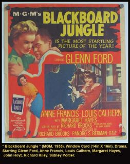 Jungle Movie Poster 1955 Glenn Ford Anne Francis School Teens