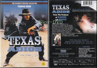 Texas Adios 1966 DVD New SEALED Franco Nero