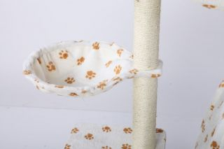 35H White Cat Tree Condo House Scratcher Pet Furniture Bed 16