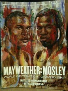 Floyd MAYWEATHER vs Shane Mosley ONSITE Program Signed by Artist