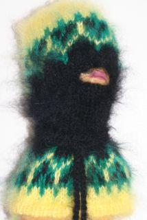 Fuzzy Mohair Extra Hairy Sweater Balaclava