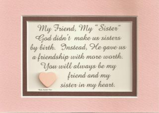 Friends Sisters in Law Verses Poems Plaques Sayings
