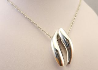 sterling silver tiffany co frank gehry necklace 16