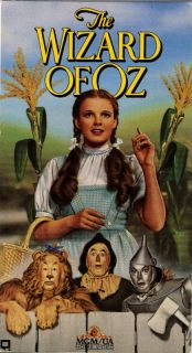 e Wizard of oz Judy Garland Frank Morgan VHS 027616000132