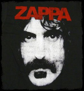 Frank Zappa Zappa Face Coal Black T Shirt Official Fast SHIP