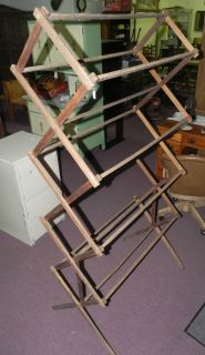 73 Tall Wood Primitive Folding Drying Rack Clothes Dryer Home Clothing