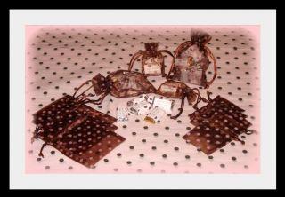 Pink Brown Polka Dot Basket Gift Wedding Favor Napkins