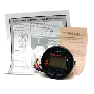 6Y5 2818R 50 BK Digital Boat Speedometer Fuel Meter Gauge