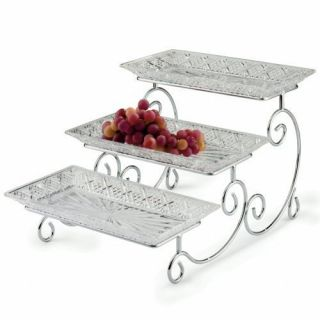 Tiered Party Food Pastry Tray Server Trays Serving Holder Storage Rack
