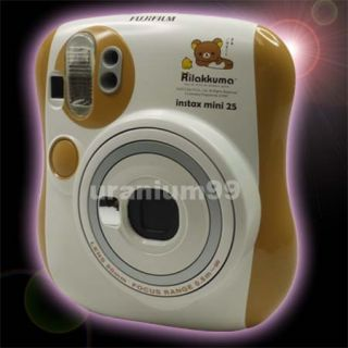 Fuji Fujifilm Instax Mini 25 Rilakkuma Orange White Film Instant