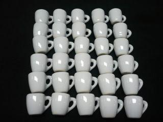 30 White Ceramic Coffee Mug Dollhouse Miniatures Supply Deco