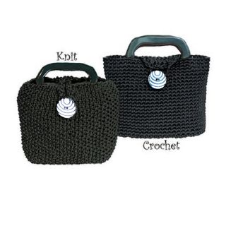 the bagsmith original little black bag purse kit for knit or crochet