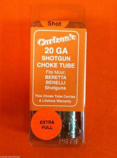 Carlsons 20 GA Extra Full Choke Tube Beretta Benelli Shotgun 10617
