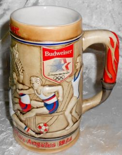 1984 Budweiser Olympic Games Stein   CS60   Ceramarte of Brazil