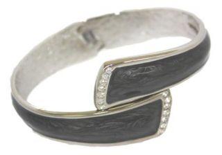 Fumi 3 in 1 Bracelet Black Silver Crystals Purse Hook