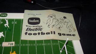 Vtg 1962 Tudor Electric Football Game Sports Board Figure Toy Tru