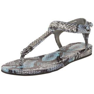 NIB GUESS Womens Jumper2 Thong Sandal BLUE FLAT SHOES
