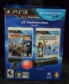 PS3 GAME Medieval Moves and Sports Champions Playstation Move Bundle