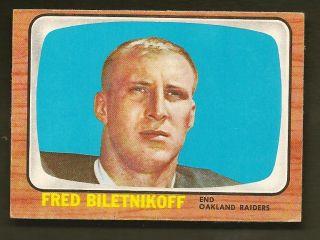 Fred Biletnikoff Oakland Raiders 1966 Topps Card 104