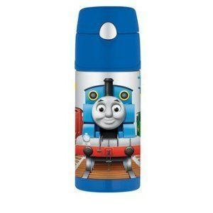 THOMAS THE TANK ENGINE FUNTAINER BY THERMOS STRAW BOTTLE 12oz