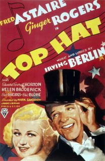 Fred Astaire Ginger Rogers in Top Hat 24x36 Classic Movie Poster