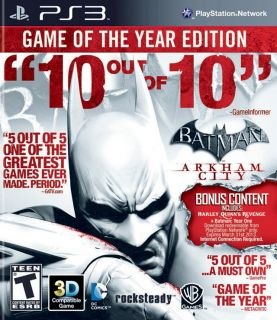 Batman Arkham City Game of The Year Edition PS3 GOTY 2012 Genuine Game