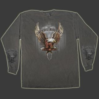 Upwing Eagle Live Free Ride Free Dyed LS T Shirt 3 Sizes to Choose