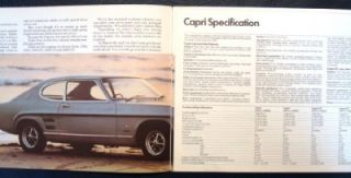 ford capri car sales brochure 1969