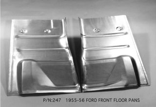 Ford Front Floor Pan Right 55 56 1955 1956