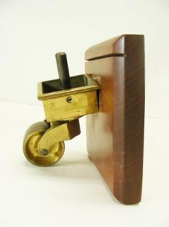 Vintage Solid Brass Furniture Caster Hardware Store Display