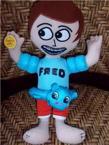 FRED FIGGLEHORN Plush Doll Toy Talking ~ Swimming Tube Blue Shirt