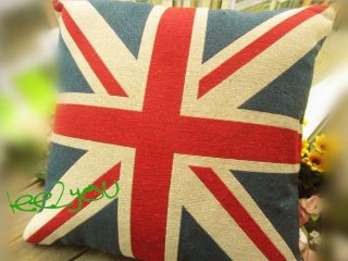 Union Jack British Flag Tapestry Pillow Case Cushion Cover 17x17
