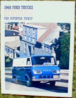 1966 Ford Econoline Van Truck Brochure Catalog 66