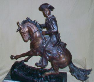 Vintage 1980s Frederic Remington Bronze Statue The Cowboy