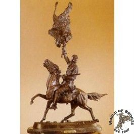 Buffalo Signal by Frederic Remington Bronze Handcast Sculpture w