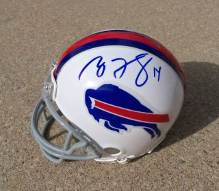 Bills Ryan Fitzpatrick Fred Jackson Signed Autographed Mini Helmet COA